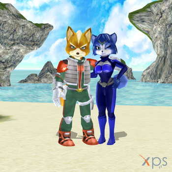 FoxXKrystal - At the beach again by iWarz507