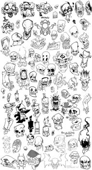 Skulls and Zombies 01 by DavidSequeira