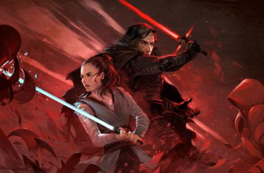 TLJ - Rey and Kylo Ren by sandara