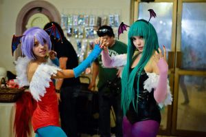 lilith and morrigan Cosplay by kiraOloka