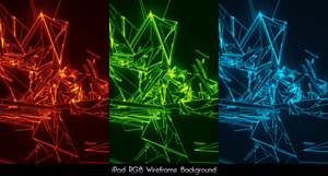 iPod RGB Wireframes Wallpapers by Pstrnil