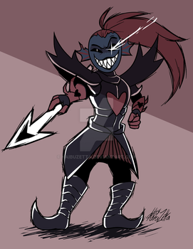 C - Undyne the Undying by Kaibuzetta