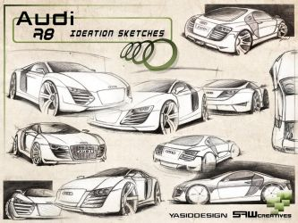 Audi R8 Ideation Sketches by yasiddesign