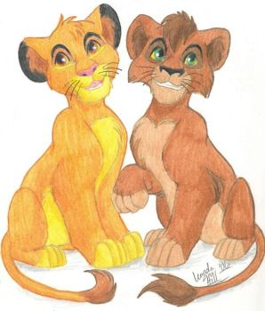 Simba and Kovu by sailorharmony2000