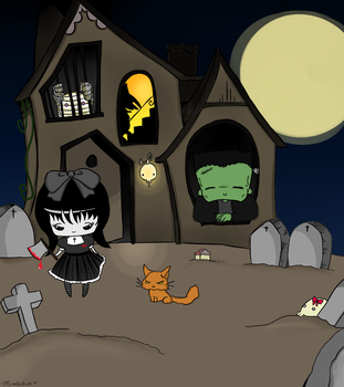 Haunted House - recolor by Moroboshist