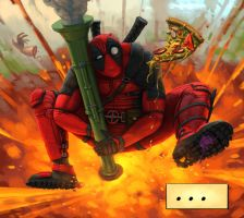DEADPOOL ROCKET JUMP by dante-cg