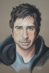 Portrait David Schwimmer by Andromaque78