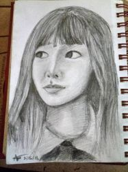 Aji 3 - graphite pencil drawing by selftaughtartist1