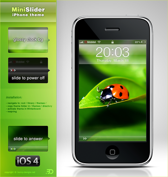 MiniSlider iPhone iOS4 theme by Benjamin-Dandic