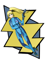 Metroid : Zero Suit Samus by MarioK9