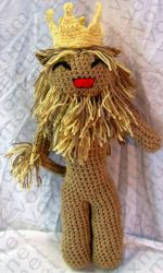Cowardly Lion Amigurumi Doll by voxmortuum
