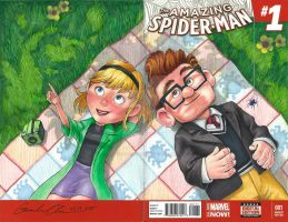 UP Amazing Spider-Man Sketch Cover Mash-Up by GuanlinChen