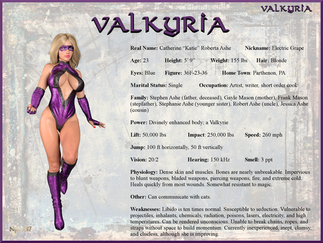 Katie Ashe - Valkyria Character Card by Nathanomir
