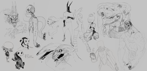 Drawpile monsters by RobotGuts