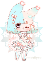 SET PRICE- Adoptable Heart Bunny CLOSED by bunbby