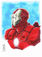 Avenger A Day No 1: Iron Man by Hodges-Art