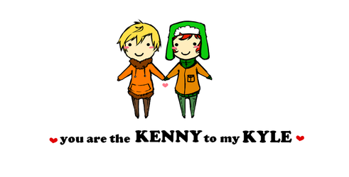Kenny to my Kyle by Cheese3D