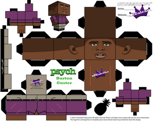 Cubeecraft of Burton Gus Guster from Psych templ by SKGaleana