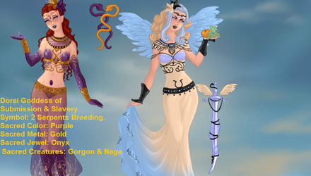 My OC Goddess Girls Done In Doll DIvine by TwinWolfSister