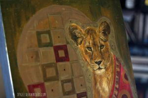 Klimt Kitty - Detail by Dygee