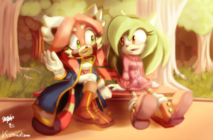 Collab - Chatty gals by Karneolienne