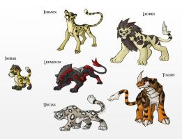 Early Mammal-Cats of the World by Either-Art