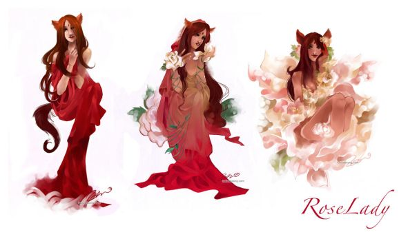 Rose Lady by luciole