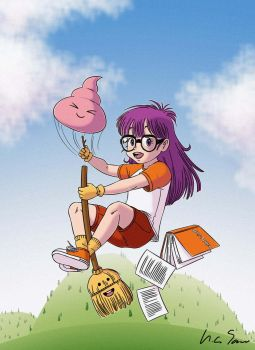 When Arale Reads Harry Potter by AliceSacco