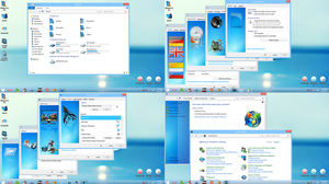 Aero Blue Iconpack Installed by Dorin by itonlinevn