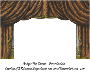 Copper Toy Theater Curtain 3 by EveyD