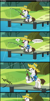 Just fishing. by Coltsteelstallion