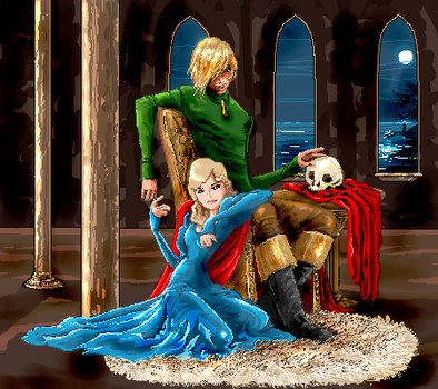 Hamlet and Ophelia by seshiria