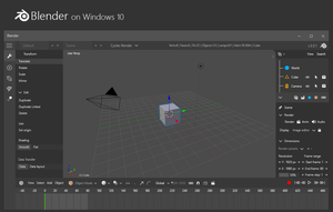 Blender on Windows 10 - Concept by bannax1994