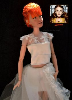 Hayley Williams Wedding Doll Repaint |Before-After by claude-on-the-road