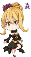 Lucy Heartfilia Chibi|Fairy Tail Render #2 by celestialwizzard