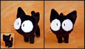 FLCL Tekkun Cat Plush by SewYouPlushieThings
