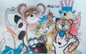 Rio 2016 - New friends (full draw) by farek18