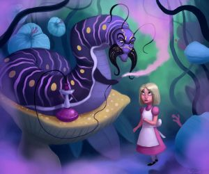 Alice and the Caterpillar by Neanderthal-Jam
