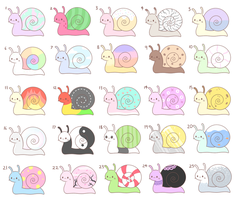 10 point snail adopts (OPEN) by Tamatanium