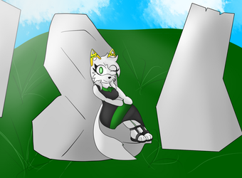 Emerald's lovely pose by DratFurious8