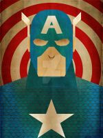 Minimalist Hereos: Captain America by jeffjanelle