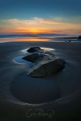 Sunset at Playa Tivives by otas32
