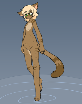 Naked Cat by Crowtan