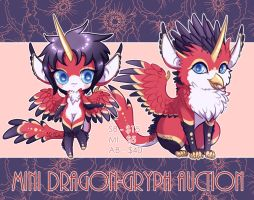 Mini Dragon-Gryph Auction (CLOSED) by Blackberreh-Adopts