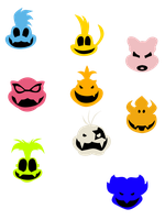 Koopalings symbols by That-One-Leo