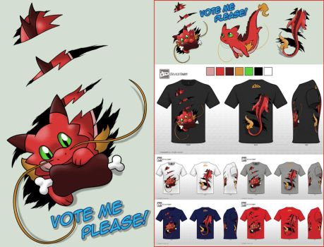 Cute Monsters - design challenge: RED DRAGON by Cachomon