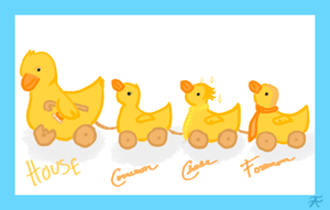 House MD Ducklings Pull Toy by AquaticFishy