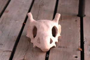 Cubone ceramics project FRONT