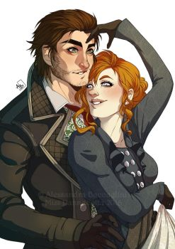 Commission - Helena and Jacob by Azulann by Miss-Pannacotta