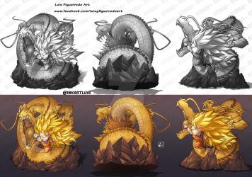 CONCEPT - GOKU SS3 from DragonBall by marvelmania